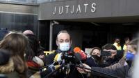 L'advocat de la família d'Helena Jubany, Benet Salellas, en una atenció a la premsa el passat divendres, davant els jutjats de Sabadell