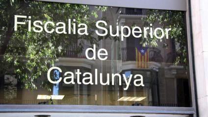 Detall de la façana de la seu de la Fiscalia Superior de Catalunya, a Barcelona