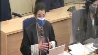 La fiscal Ana Noé al judici del 17-A a l'Audiencia Nacional exposant l'informe final del ministeri públic