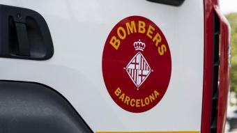 Detall d'un vehicle dels Bombers de Barcelona