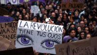 Imatge d'una de les manifestacions del 8 de març de l'any passat