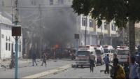 Mogadiscio pateix sovint atacs terroristes, com el de la imatge contra un control policial, el passat 13 de febrer