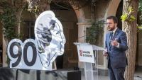 El vicepresident del govern en funcions, Pere Aragonès, a l'acte de commemoració del 90 aniversari de la República