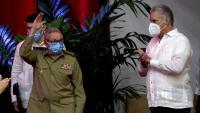 Raúl Castro i Miguel Díaz-Canel, al Congrés del PCC
