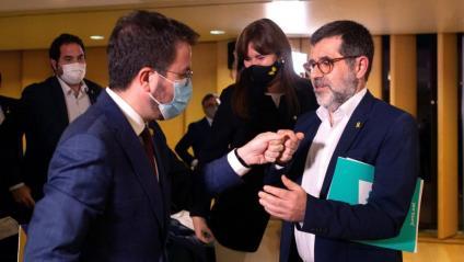 Pere Aragonès i Jordi Sànchez, en una imatge recent