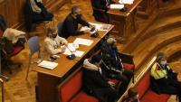 Els acusats per l'assassinat d'un home a Baró de Viver el 2018, durant la vista celebrada el 13 d'abril del 2021