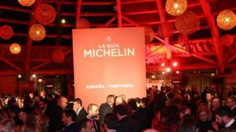 Presentació de la guia Michelín al Mas Marroch de Vilablareix, el 2016