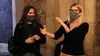 Laura Vilagrà i Elsa Artadi, aquest dijous als passadissos del Parlament