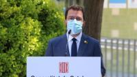 El vicepresident del govern en funcions, Pere Aragonès, aquest dimecres a Mataró