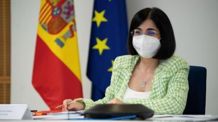 La ministra de Sanitat, Carolina Darias, al Consell Interterritorial de Salut d'aquest dimecres