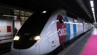 Un tren d'Ouigo, divendres a l'estació de Sants