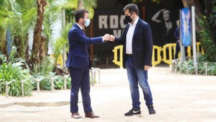 Aragonès i Sànchez presenten acord de Govern