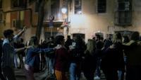 Diverses persones en una celebració al centre de Barcelona, el passat 15 de maig