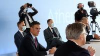 El president del govern espanyol, Pedro Sánchez, a la cimera euromediterrània d'Atenes