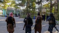 Combatents talibans, ahir a Kabul