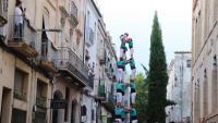 Els Castellers de Vilafranca aixequen un 3 de 7, en la primera actuació completa després de dos anys d'aturada