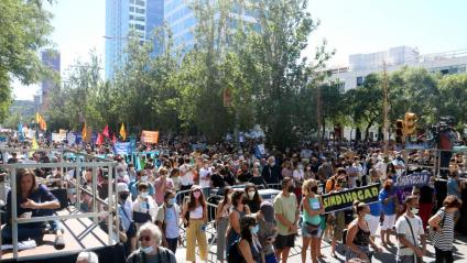 La mobilització, al carrer Tarragona