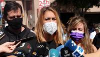 La presidenta d'ECP, Jéssica Albiach, aquest diumenge a Barcelona