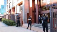 Vista de l'entrada a la seu del Tribunal de Comptes, a Madrid