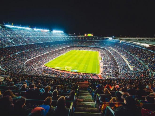 Una imatge del Camp Nou.