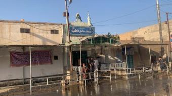 Exterior de la mesquita on hi ha hagut l'atemptat amb bomba a Kandahar