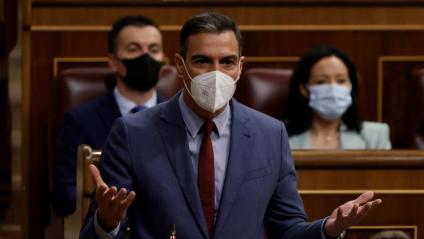El president del govern espanyol, Pedro Sánchez, aquest dimecres al Congrés dels Diputats
