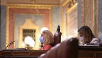 La presidenta del Congrés dels Diputats, Meritxell Batet, dirigint un ple