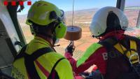Els Bombers han evacuat la víctima amb l'helicòpter medicalitzat
