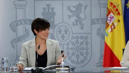La portaveu de l'executiu espanyol, Isabel Rodríguez, a la roda de premsa posterior al Consell de Ministres d'aquest dimarts