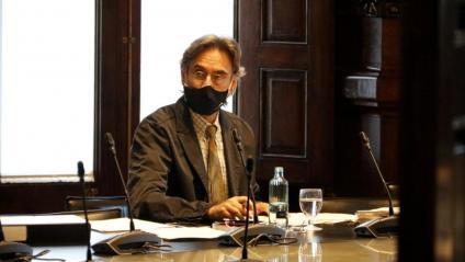 El lletrat major del Parlament, Miquel Palomares, a la reunió de la mesa d'aquest dimarts