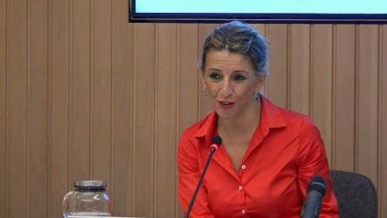 La ministra espanyola de Treball, Yolanda Díaz, aquest dimarts a Roma