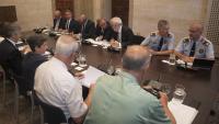Representants dels governs català i espanyol a l'última reunió de la Junta de Seguretat de Catalunya, al setembre de 2018