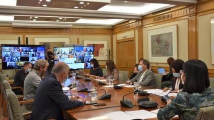 La ministra de Sanitat, Carolina Darias, presidint aquest dimecres el Consell Interterritorial de Salut