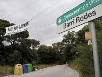 Els veïns del barri han penjat pancartes contràries al projecte d'urbanització Griselda Escrigas