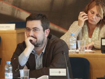 Jordi Casals, en un moment del ple comarcal de dimecres Jordi Puig