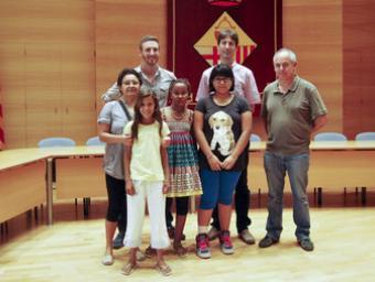 La recepció que Caldes ha fet als nens acollits a famílies del poble