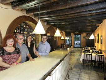 Maria Dolors Pi, Víctor Vilanova, Fani Planas i Ivan Vilanova; les dues generacions d'El Jardinet, dimarts al restaurant Jordi Puig