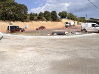 Els treballs de la nova rotonda de la carretera de Vilanova Ramon Ferrandis