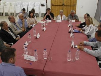 Els alcaldes del Moianès reunits divendres a Granera amb la vicepresidenta Joana Ortega Griselda Escrigas