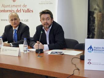 L'alcalde Montero, a la dreta i Albert Testart, en la compareixença informativa d'aquest dijous Ramon Ferrandis