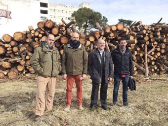 Ignasi Martínez, Èric Vila, Joan Vila i Ferran Teixidor, dilluns al matí a Sant Miquel de Balenyà Agustí Danés