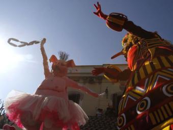 El rei Carnestoltes de Mollet que des de diumenge passat ja corre per la ciutat Griselda Escrigas