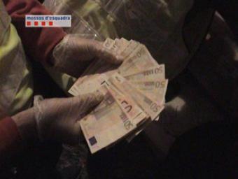 En l'escorcoll, els Mossos també van recuperar diners en efectiu Mossos d'Esquadra