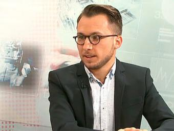 Gil Vilarrasa, durant l'entrevista a EL 9 TV