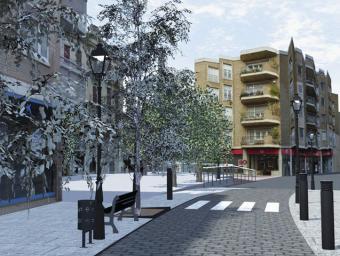 Imatge virtual d'una reforma aturada al passeig Pi i Margall de Caldes Ajuntament de Caldes