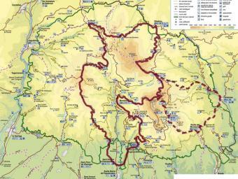 Plànol amb la ruta definida per aquest any i la que es projecta per 2016 i que completarà la volta al massís