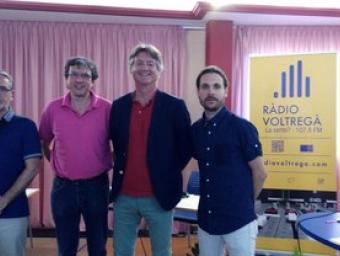 Els candidats de Sant Hipòlit, abans del debat a Ràdio Voltregà