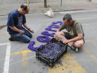 Les catifes florals que es fan a la Garriga són ja element festiu d'interès nacional Ramon Ferrandis