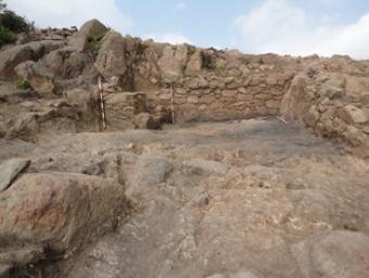 Un imatge del jaciment ibèric, situat entre els municipis de Sant Fost de Campsentelles i Montcada