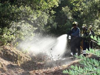 Una pràctica dels Bombers l'estiu passat en boscos entre la Garriga i Figaró Ferran Polo